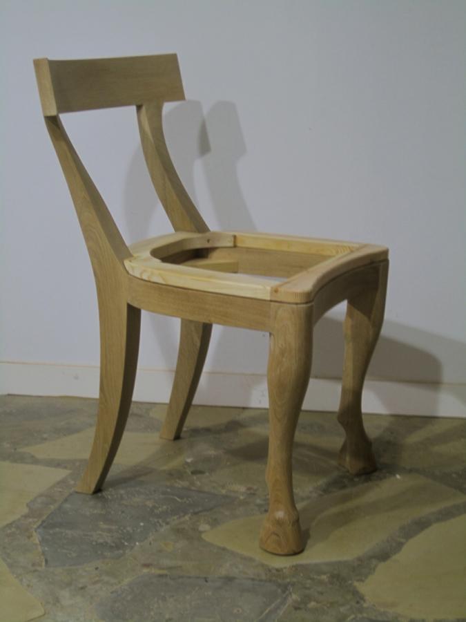 Cadira amb potes de cavall