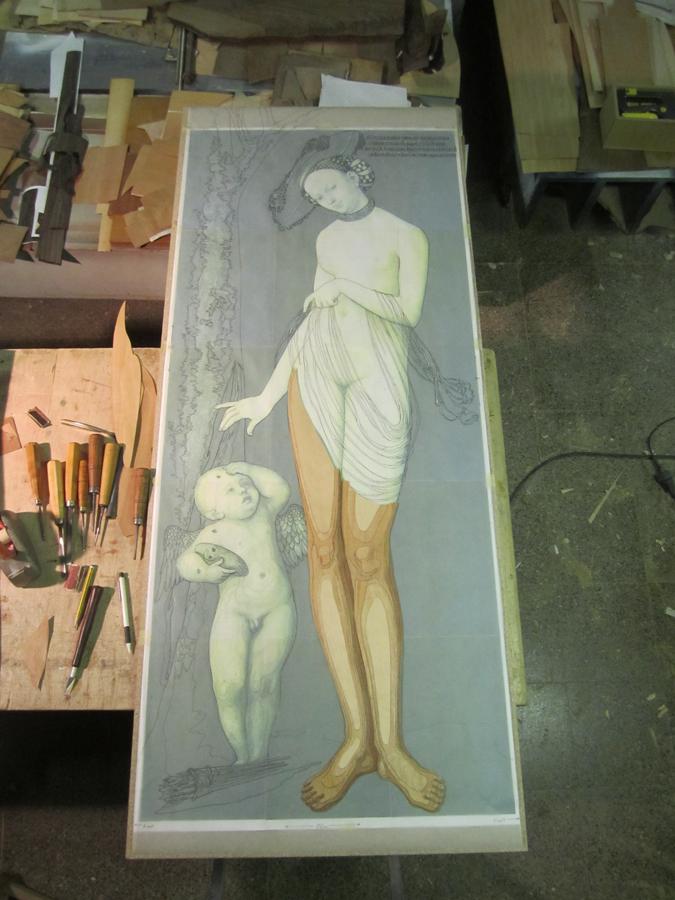 Les cames de Venus en procés de muntatge.