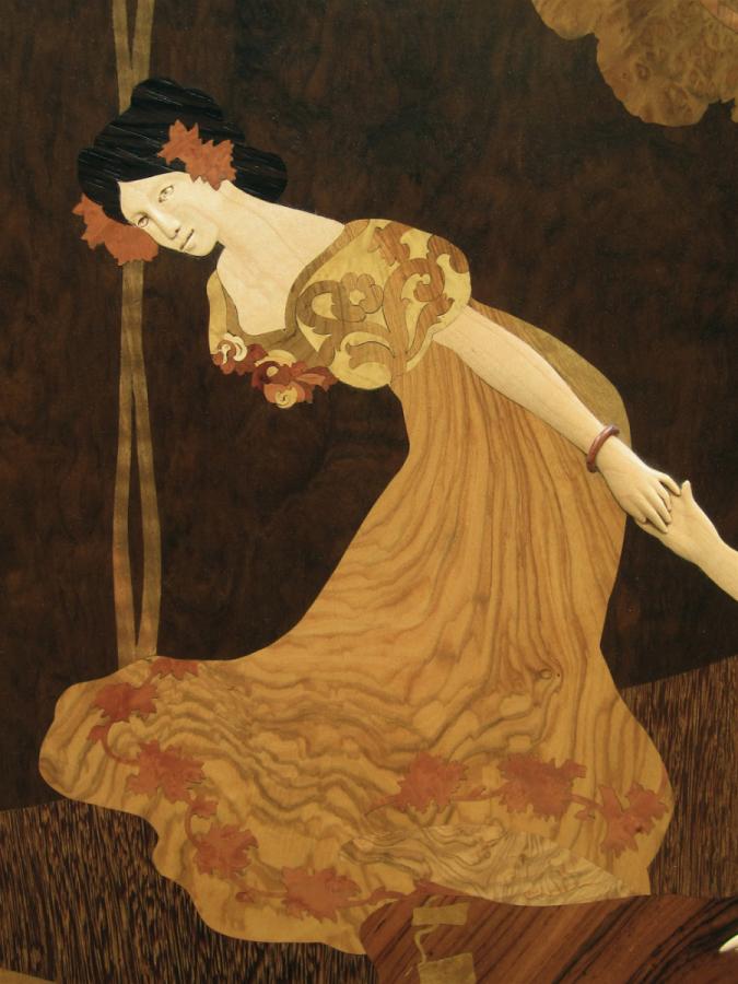 Marqueteria modernista, la dansa de les fades