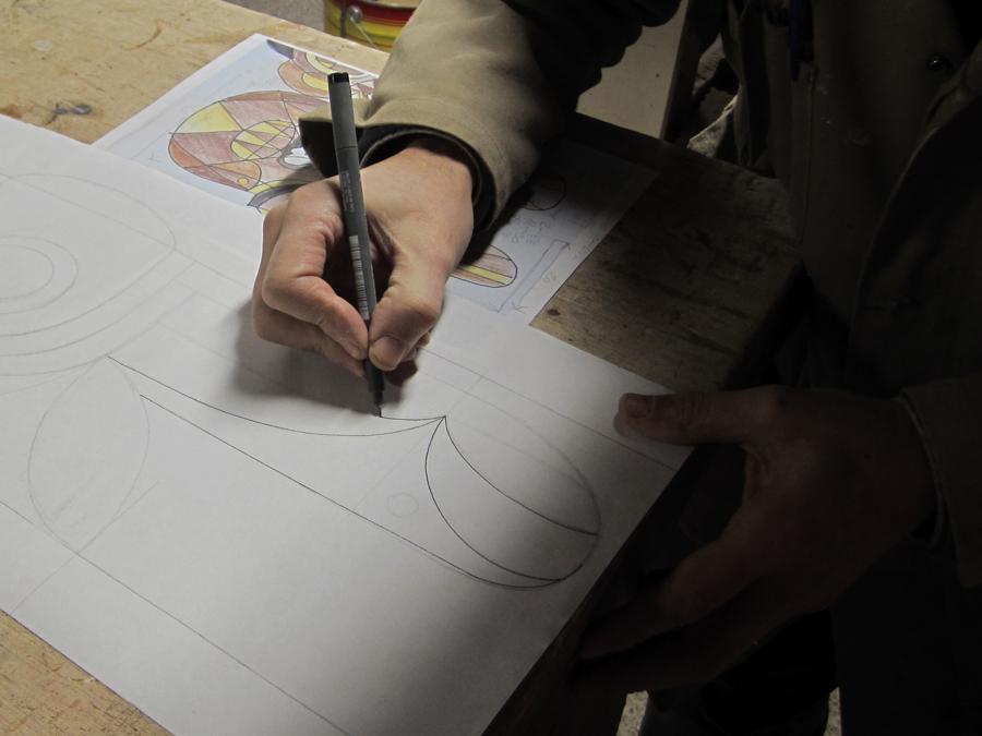 Dibuixant a mida real segons el dibuix d'en Jaime