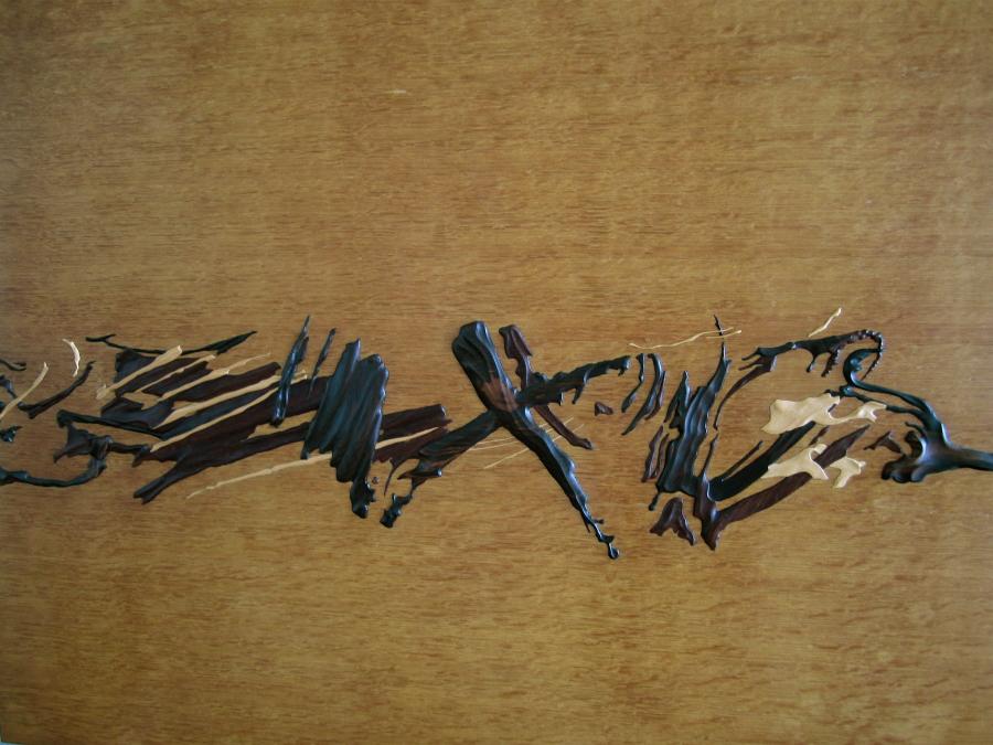 Les pincellades de fusta.